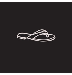 Flip-flops sketch icon vector