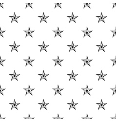 Five pointed star pattern simple style vector