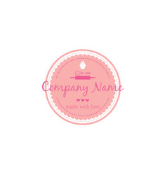 bakery dessert logo template design vector image