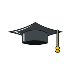 graduation cap icon isolated on a white background vector image