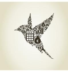 Bird business vector image