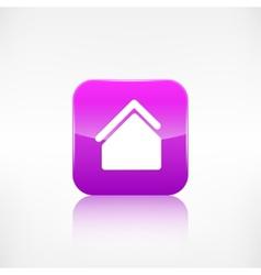 Home icon House symbol Application button vector image