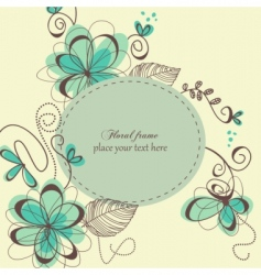 Decorative retro card vector
