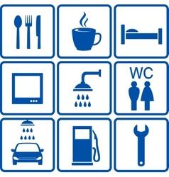 Automotive road signs vector