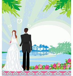 Honeymoon in the tropics vector