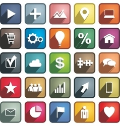Set of different business icons vector