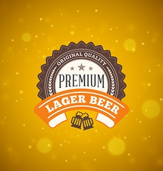 Retro vintage design element for brewery badge vector