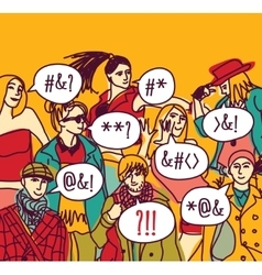 Foreign language misunderstanding people vector
