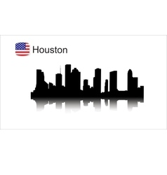 Houston silhouette vector