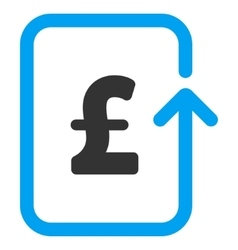 Reverse pound transaction flat icon symbol vector