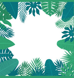 Abstract background with tropical leaves floral vector