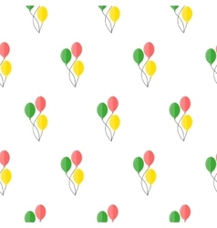 Balloons seamless pattern vector image vector image