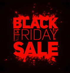 black friday sale background with vector image vector image