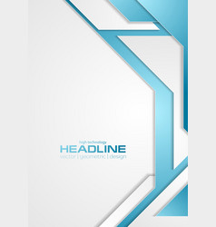 blue and grey tech corporate flyer background vector image