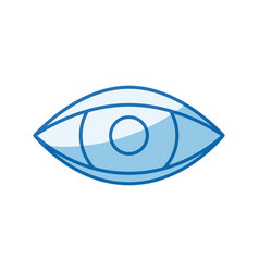 Blue color shading silhouette eye symbol browser vector