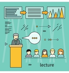 Business Lecture Banner vector image