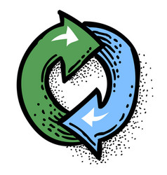Cartoon image of update icon refresh symbol vector