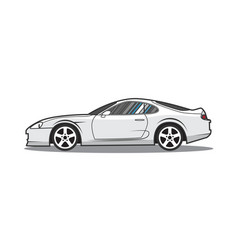 cartoon japan sport car side view vector image