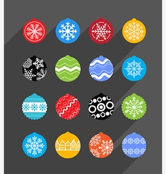 Color Christmas baubles collection Design elements vector image vector image