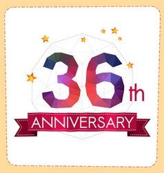 Colorful polygonal anniversary logo 2 036 vector