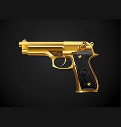 gun gold vector image vector image