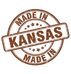 made in Kansas vector image vector image