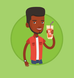 man drinking cocktail vector image vector image