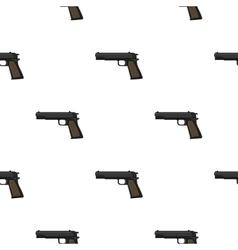 Military handgun icon in cartoon style isolated on vector image