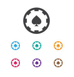 Of business symbol on spades vector