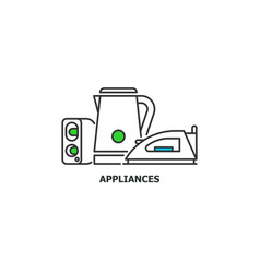 old appliances and e-waste recycle concept icon in vector image