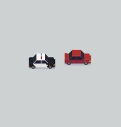 pixel art police vector image