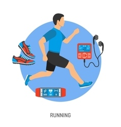 Running and Jogging Concept vector image