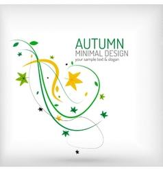 Seasonal autumn greeting card minimal design vector image vector image