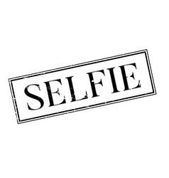 Selfie rubber stamp vector
