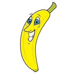 Smiling banana vector image