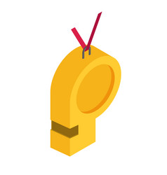 sport whistle icon flat vector image
