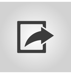 The share icon Action symbol Flat vector image vector image