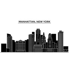 Usa manhattan new york architecture city vector