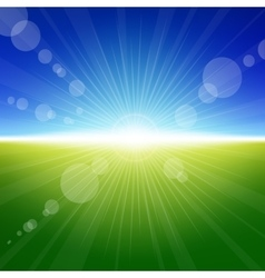 Daylight summer background vector