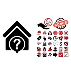 Realty state flat icon with bonus vector