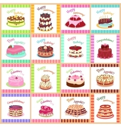 Tasty Celebratory Cakes Seamless Pattern vector image