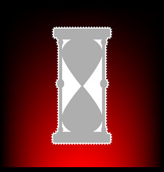 Hourglass sign  postage stamp or old vector