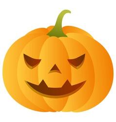 Smiling carved pumpkin vector image