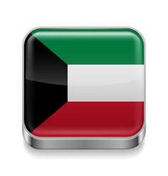 Metal icon of kuwait vector