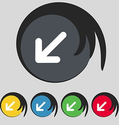 Turn to full screenicon sign symbol on five vector