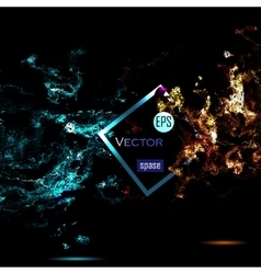 Universe background for presentation design vector