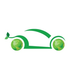 Ecology car vector