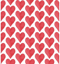 Red heart pattern vector