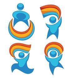 rainbow people vector image