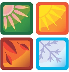 Stylized icons of the four seasons vector